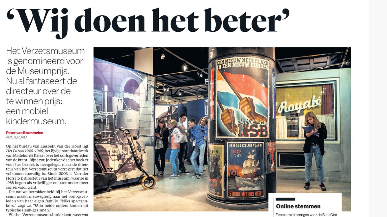Verzetsmuseum Genomineerd Voor Museumprijs
